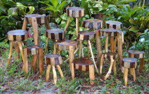 rustic woodland plant stands