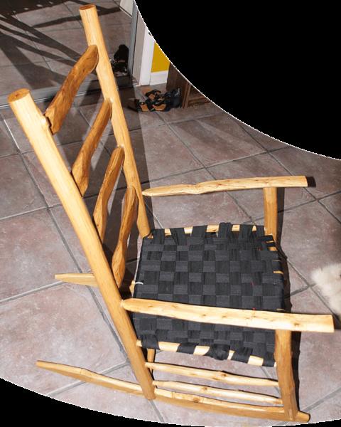 Rustic Pine Shaker Rocking Chair