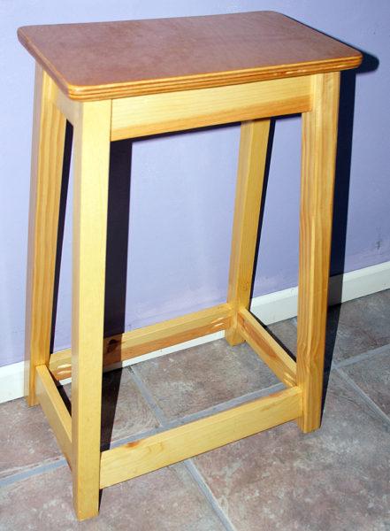 wood kitchen stool