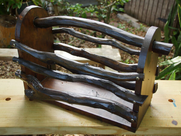 Rustic wood garden tote