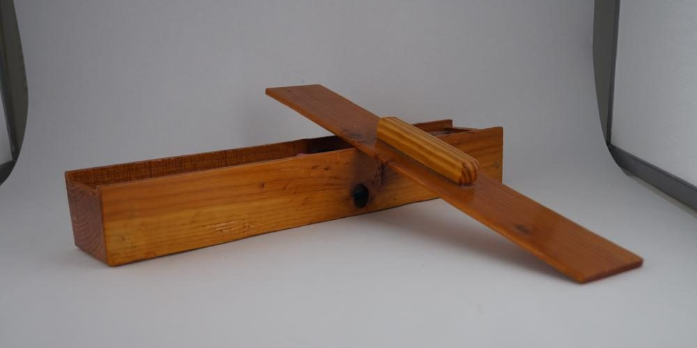 long bandsawn wood box