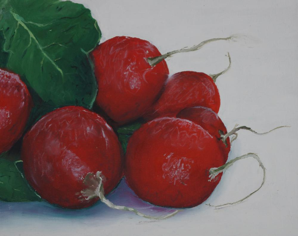 oil painting radishes