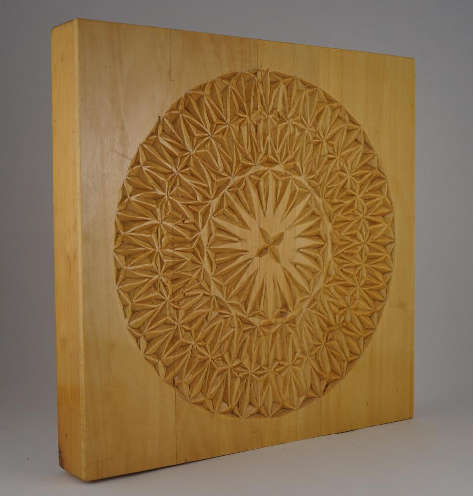 wood chip carved panel