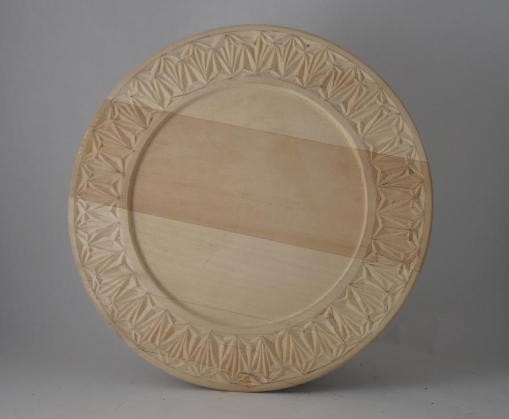 Chip wood carved charger / plate