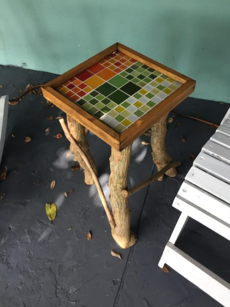 side table with mosaic top