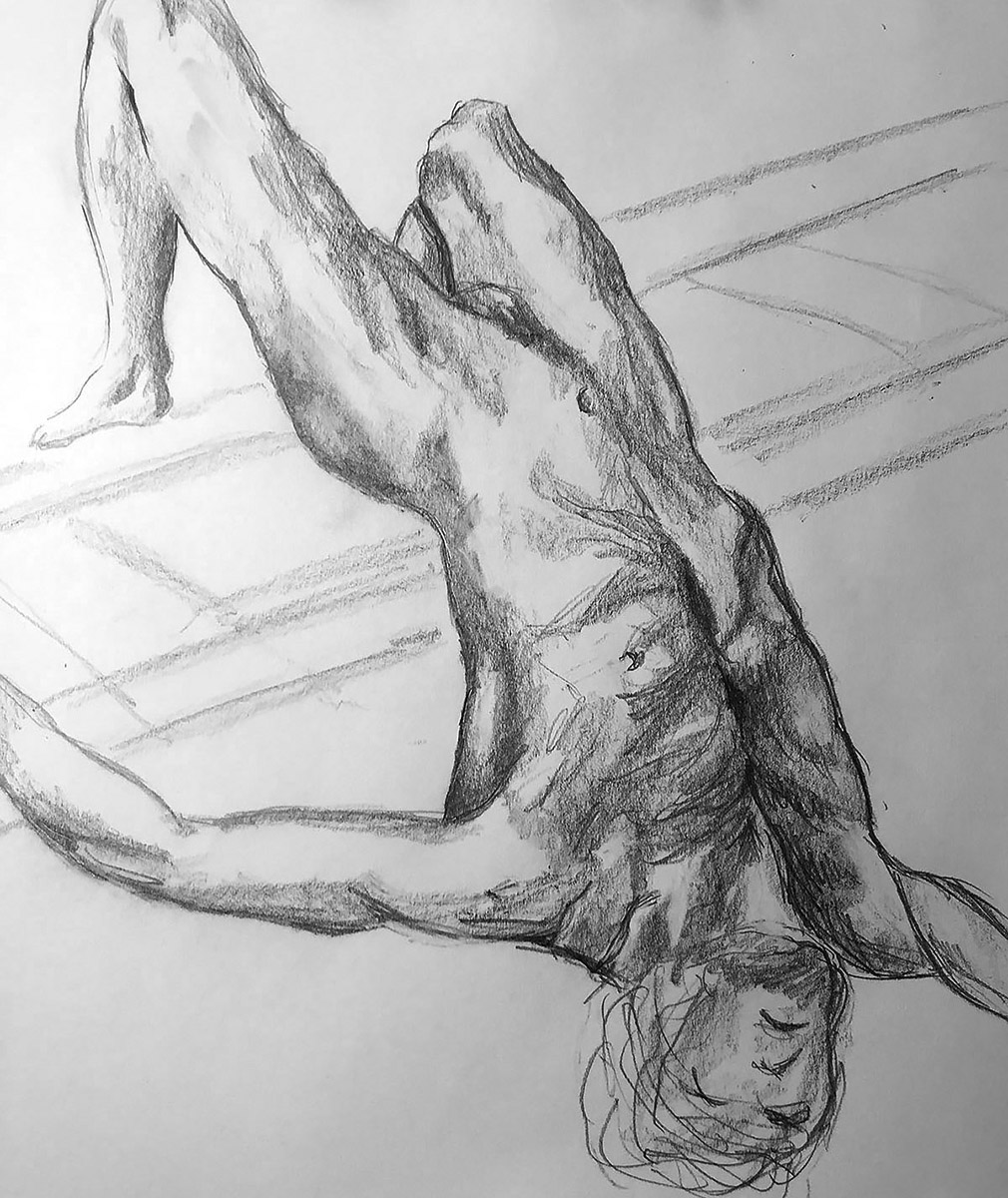 Graphite Pencil Drawing After Gericault
